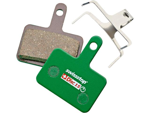 SwissStop Disc 15 Organic Brake Pads Shimano, Quad, Tektro, TRP, green